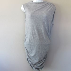 Nasty Gal T Shirt Dress Ruched Bodycon Gray New